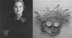 Albright and brooch
