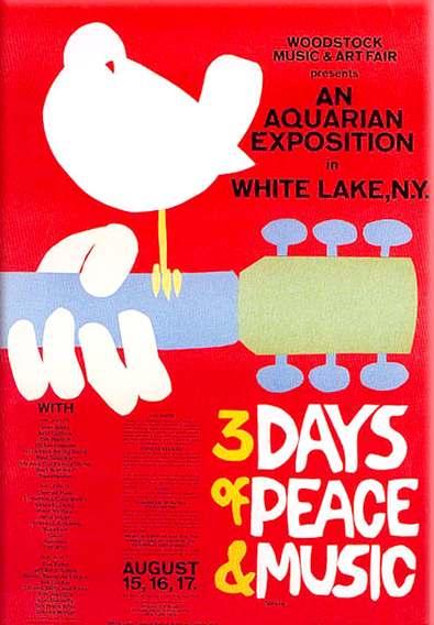 Fullcolor reprint of Arnold Skolnick 39s poster for the historic 1969 event